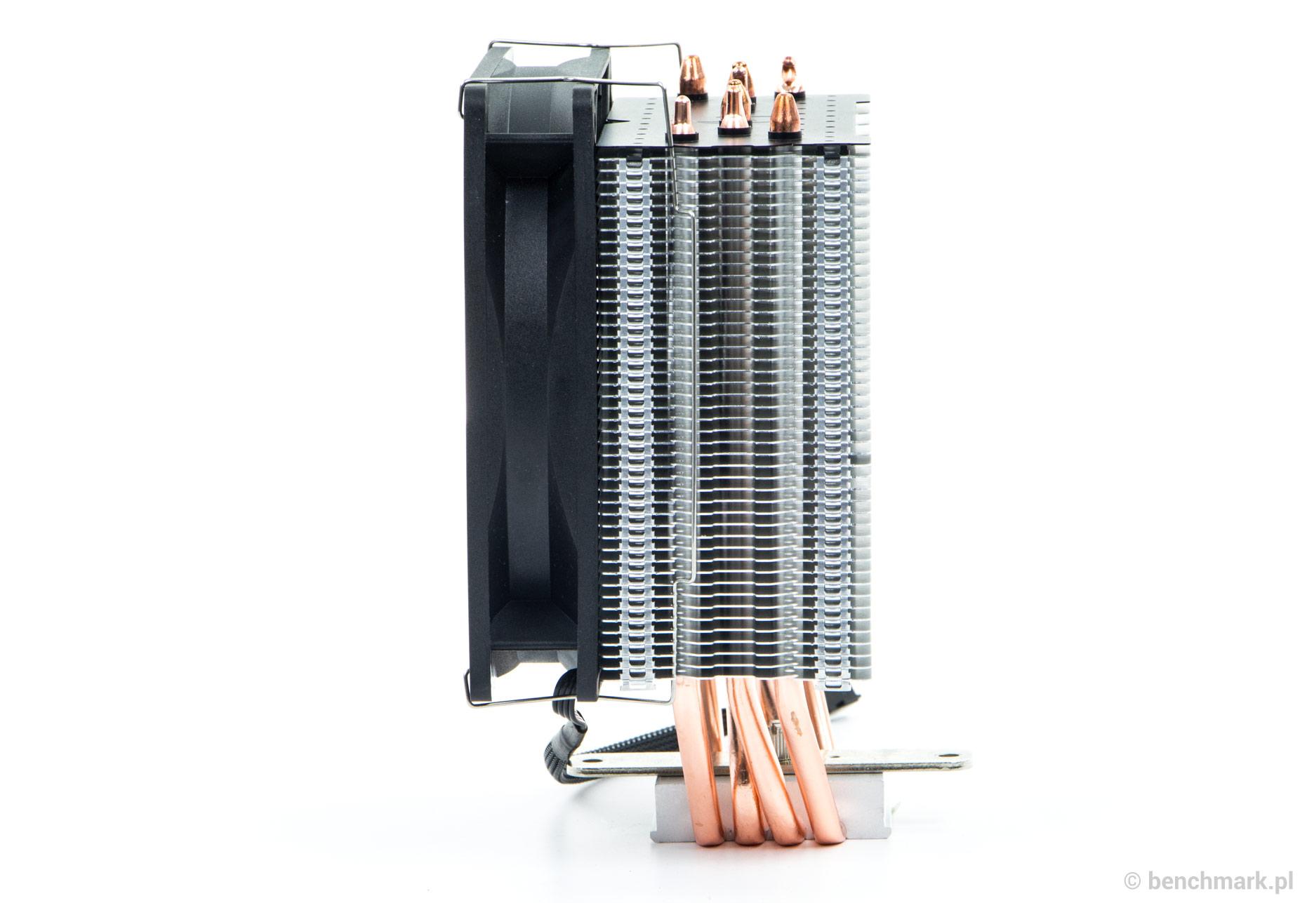 SilentiumPC Fera 3 HE 1224 chłodzenie procesora - widok z boku