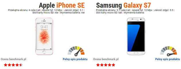 iphone se vs galaxy s7