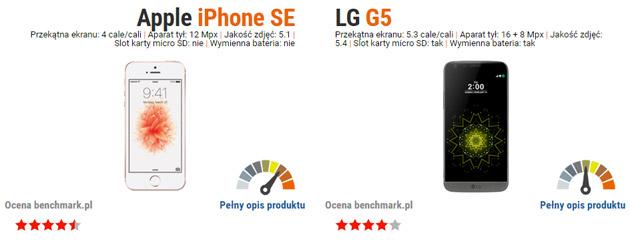 iphone se vs lg g5