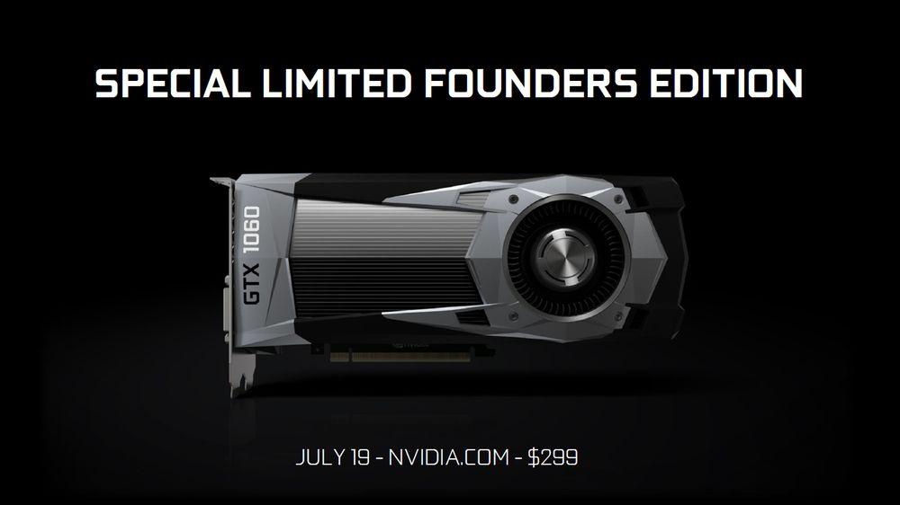 Nvidia GeForce GTX 1060 Founders Edition karta graficzna