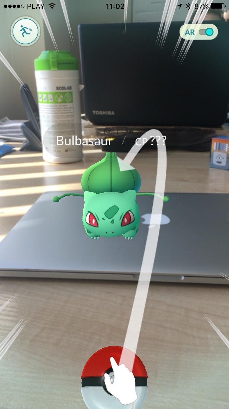 Pokemon Go - łap Bulbasaura