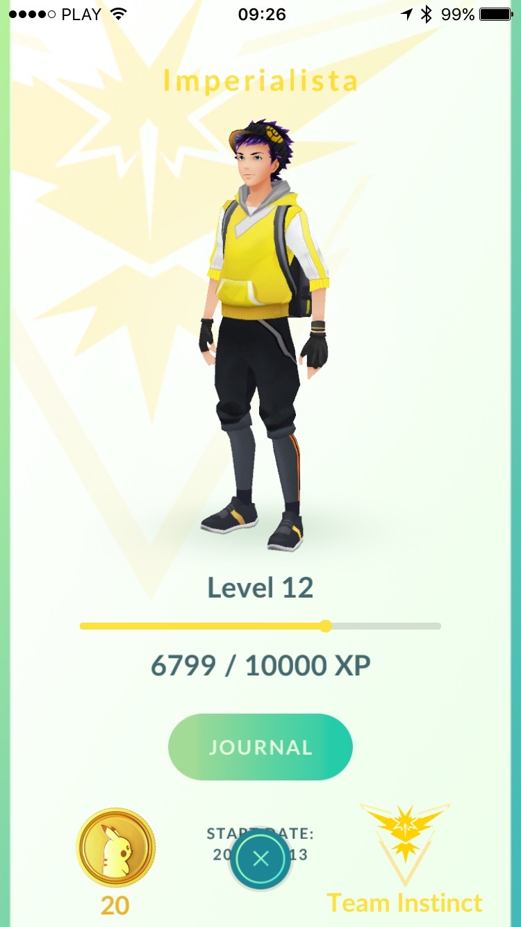 Pokemon Go - karta gracza