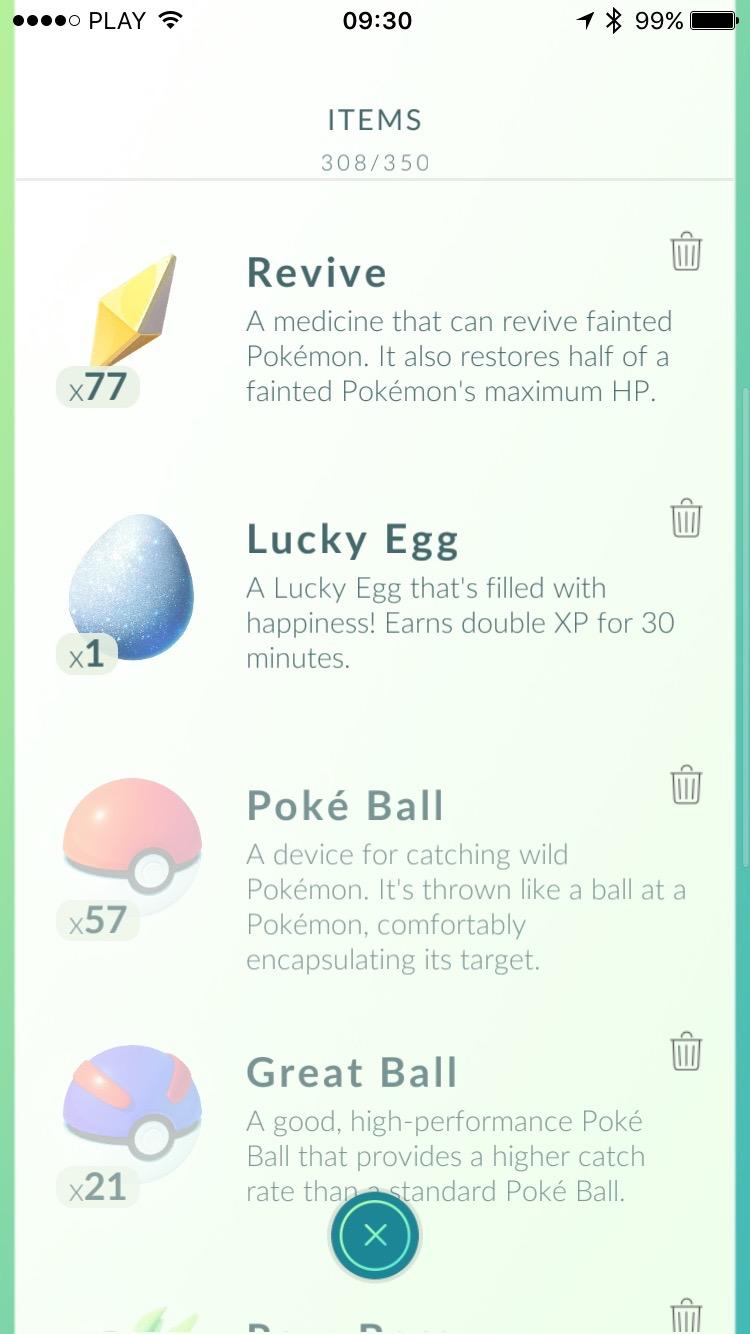 Pokemon Go - items