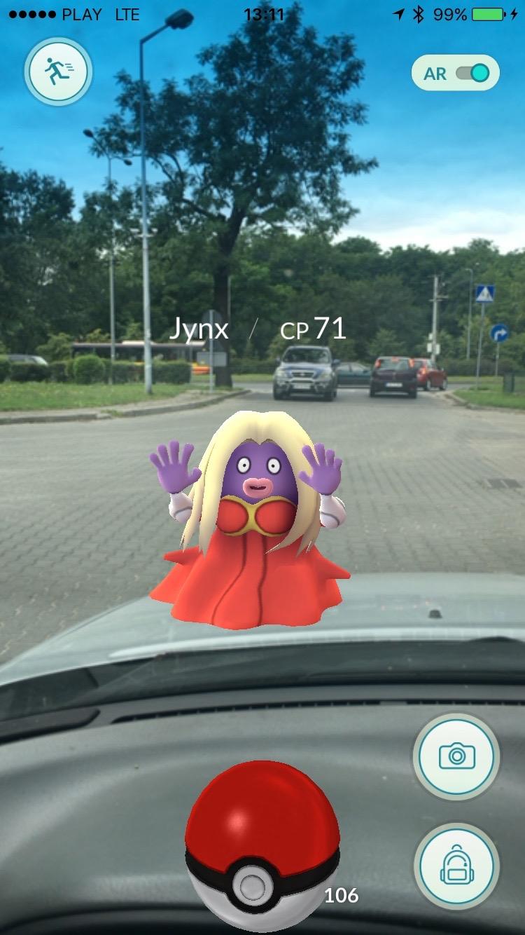 Pokemon Go - ubrany Jynx