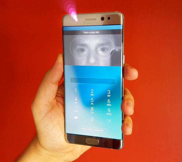 Samsung Galaxy Note 7 - skaner tęczówki oka