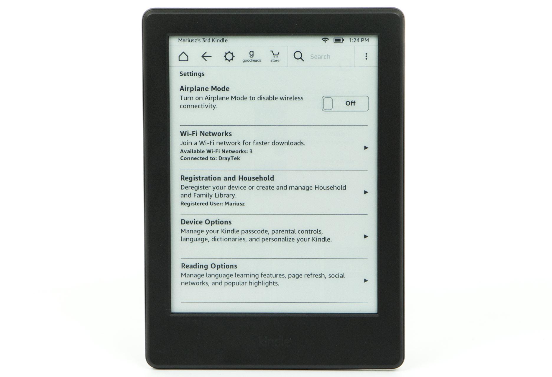 Kindle 8 ustawienia