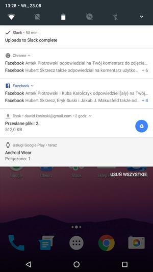 Android 7.0 Nougat - powiadomienia