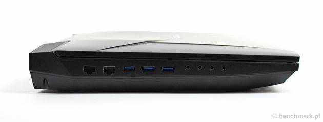 Hyperbook GTR87 VR SLI lewy bok