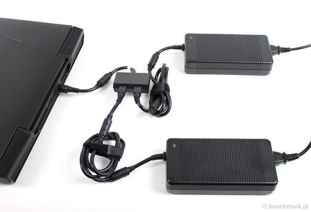 Hyperbook GTR87 VR SLI dwa zasilacze