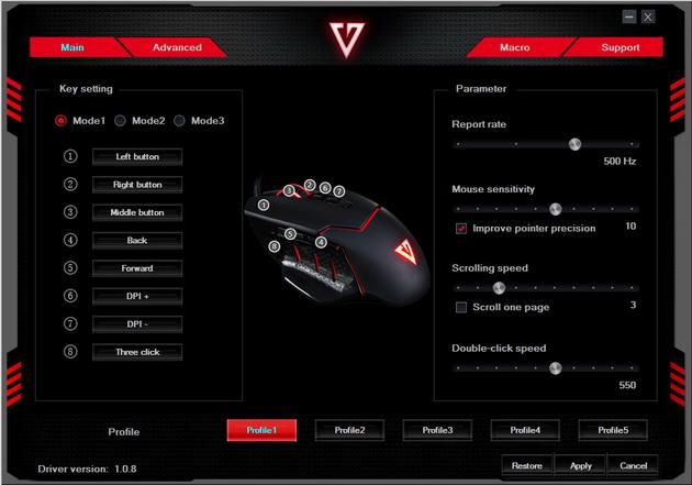 Modecom Volcano MC-GMX4 - oprogramowanie
