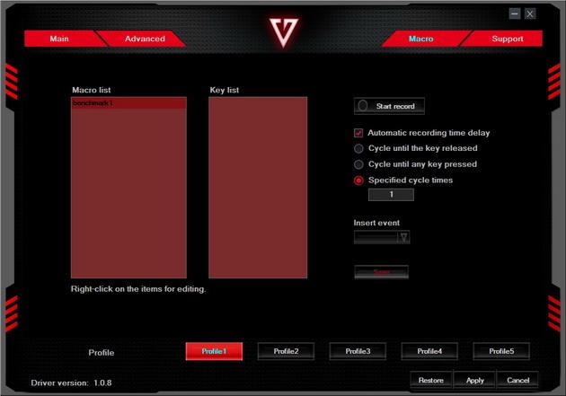 Modecom Volcano MC-GMX4 - tworzenie makr
