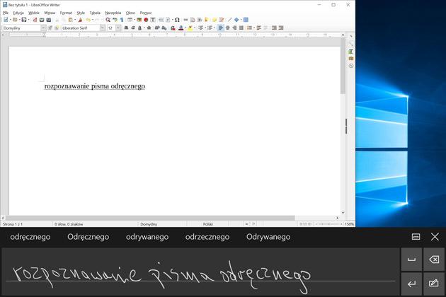 ThinkPad X1 Tablet - rozpoznawanie pisma odręcznego