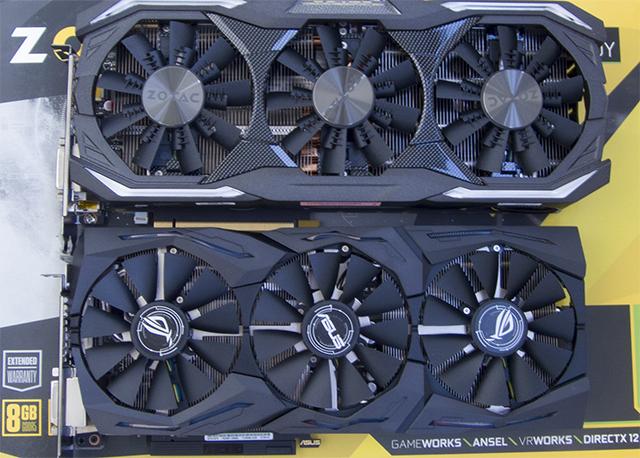 Zotac GeForce GTX 1070 AMP Extreme oraz Asus GeForce GTX 1070 Strix Gaming