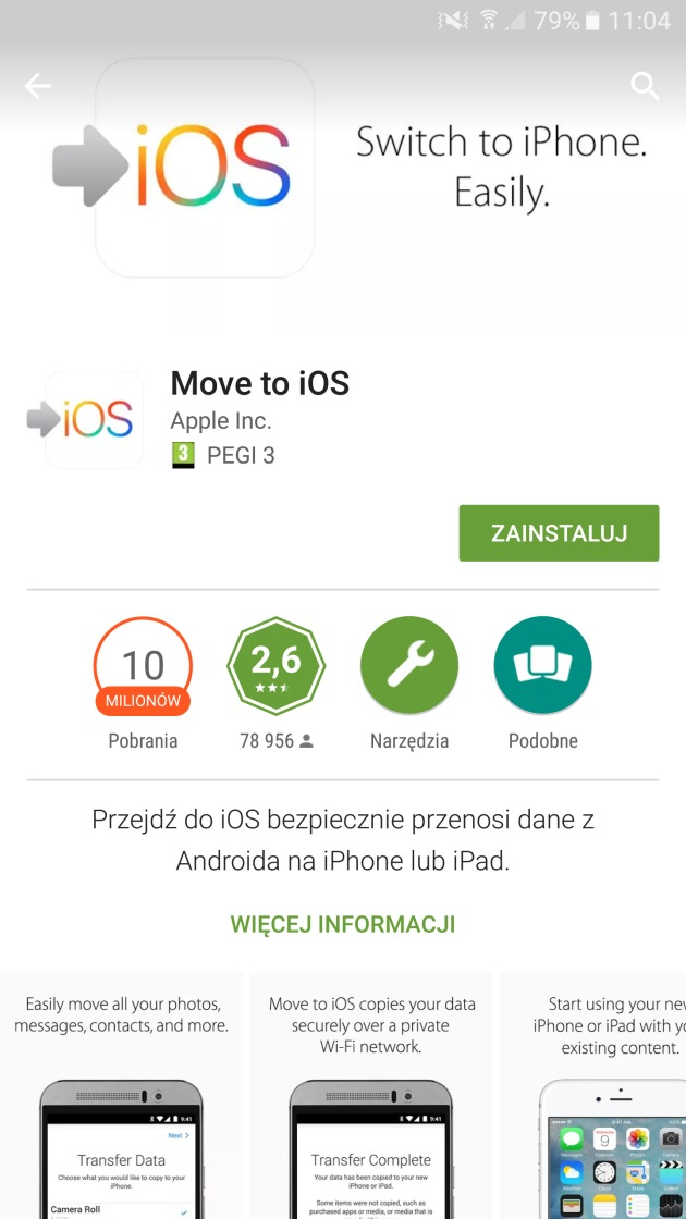 move to iOS play store