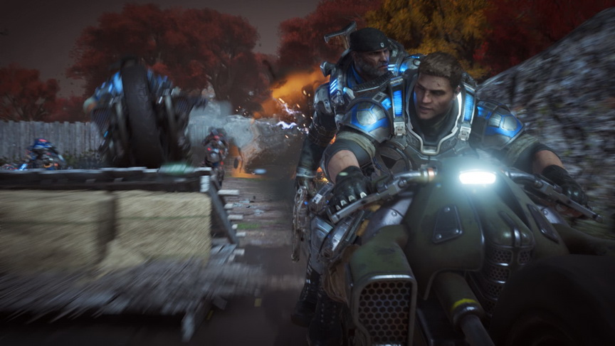 Gears of War 4 - ucieczka motocyklem