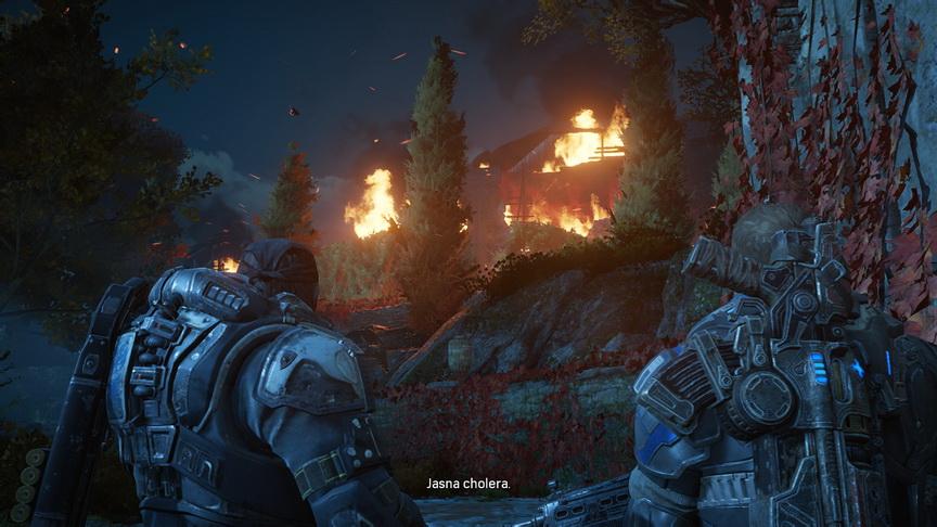 Gears of War 4 - pożar