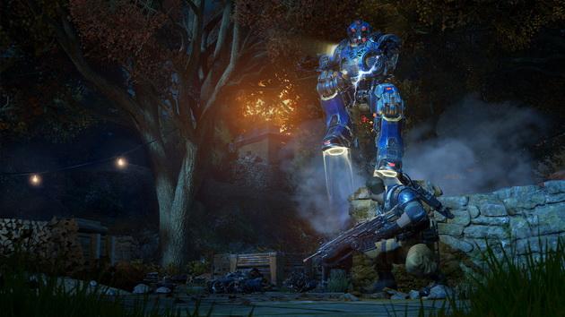 Gears of War 4 - robot przeskakuje osłonę