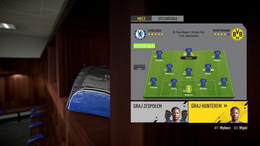 FIFA 17 - wybór kim chcemy grać