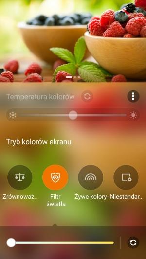 Asus Zenfone 3 wyświetlacz filtr światła