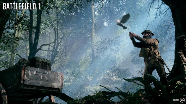 Realizm w Battlefield 1 - gołąb pocztowy