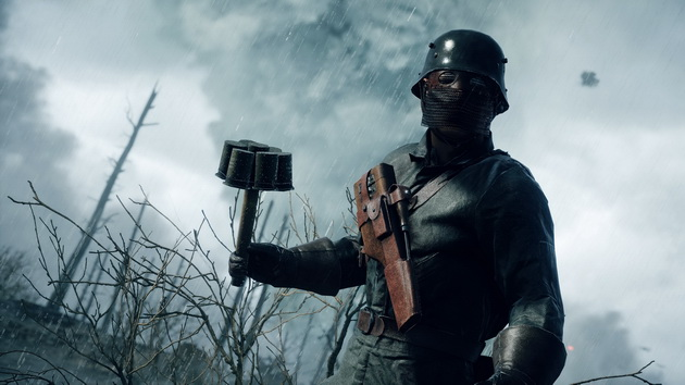 Realizm w Battlefield 1 - granat