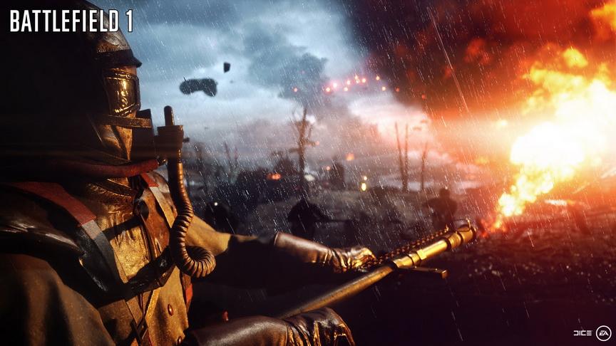 Realizm w Battlefield 1 -miotacz płomieni