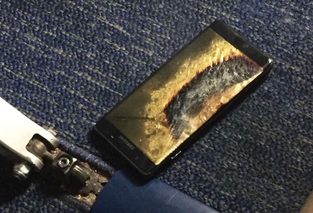 Galaxy Note 7 pożar samolot