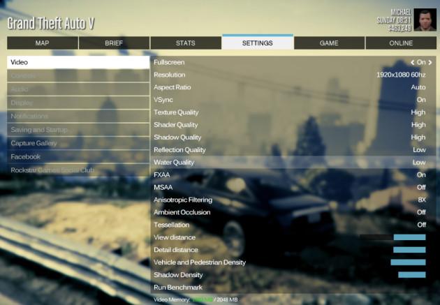 GTA 5 PC ustawienia