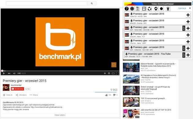 Video DownloadHelper - screen