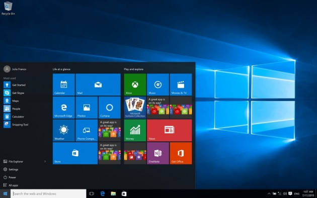 Windows 10 system