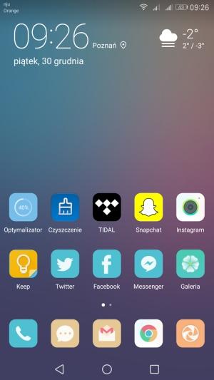 Huawei Mate 9 aktualizacja menu