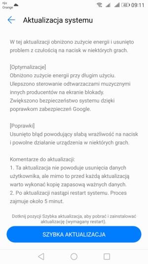 Huawei Mate 9 aktualizacja zmiany