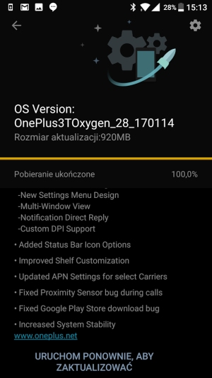 OnePlus 3T Android 7.0