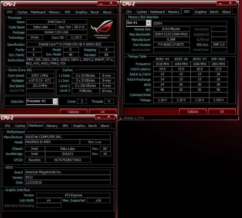 Intel Core i3-7350K - podkręcanie