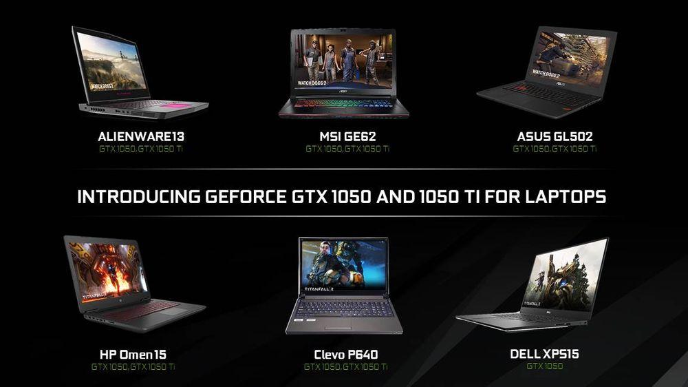 Laptopy z kartami Nvidia GeForce GTX 1050 i GTX 1050 Ti