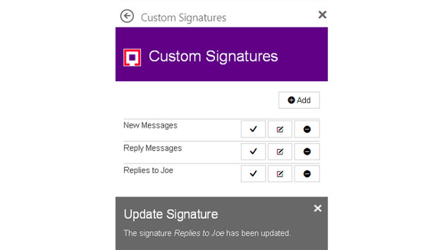 Outlook Custom Signatures