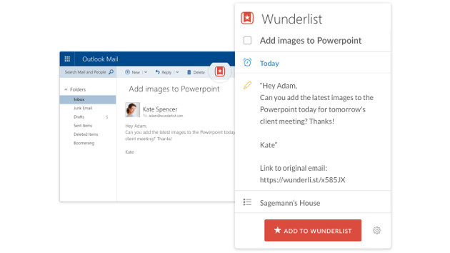 Outlook Wunderlist
