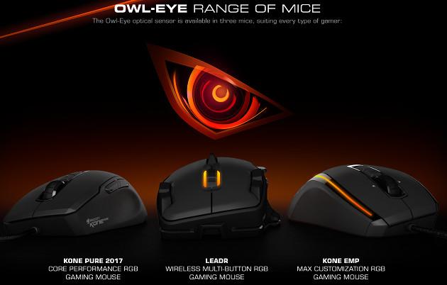 Roccat Owl-Eye myszki