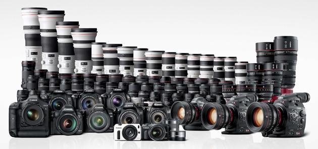 Canon EOS rodzina produktów