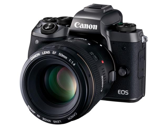 Canon EOS M5 obiektyw 50 mm f/1m4