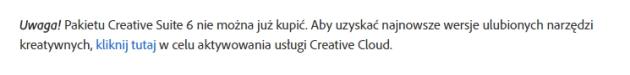 Brak zakupu Adobe CS6