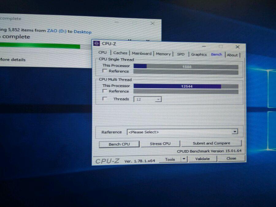 AMD Ryzen ES - CPU-Z