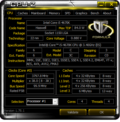 CPU-Z ASRock OC Formula