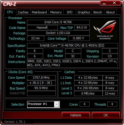 CPU-Z ASUS ROG