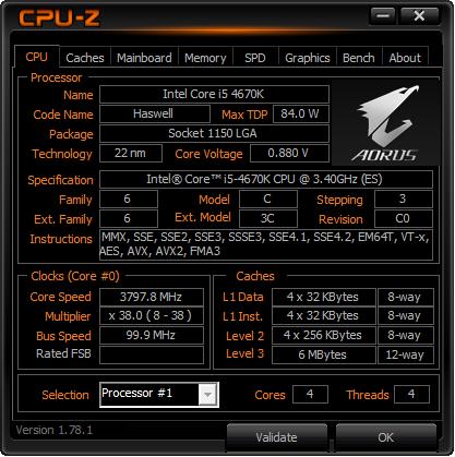 CPU-Z Gigabyte Aorus