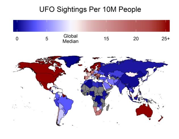 UFO statystyki Świat