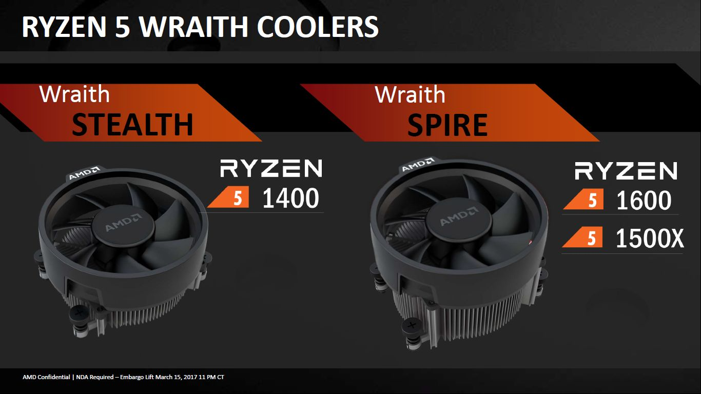 AMD Ryzen 5 - chłodzenia