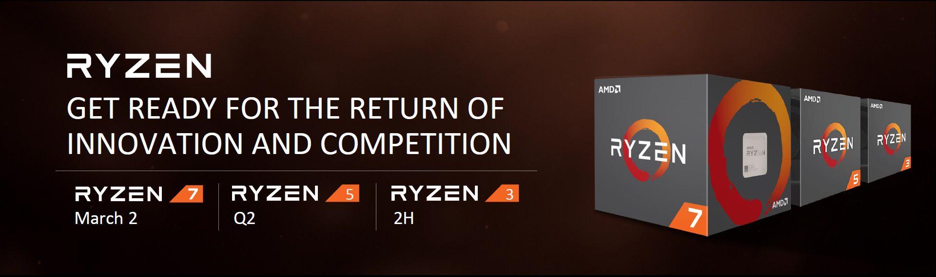 AMD Ryzen 7, 5 i 3 - zapowiedź