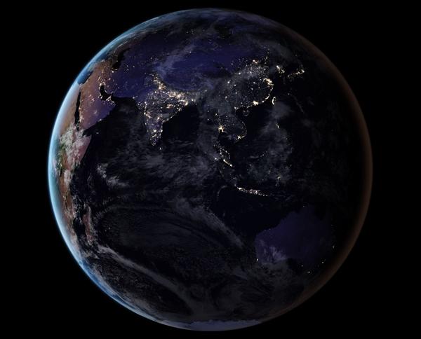 Azja i Australia nocą