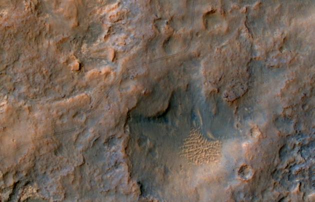 Mars Curiosity ślady